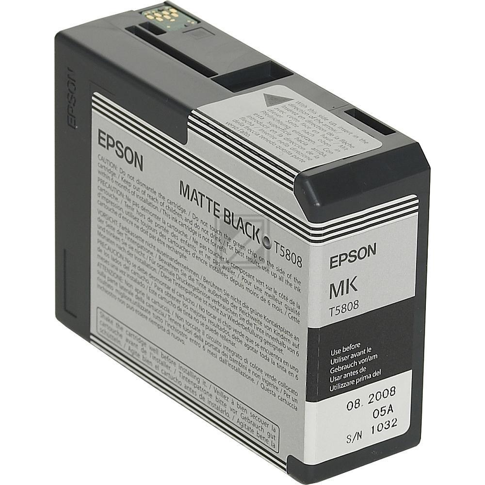 Epson Tintenpatrone schwarz matt (C13T580800, T5808)