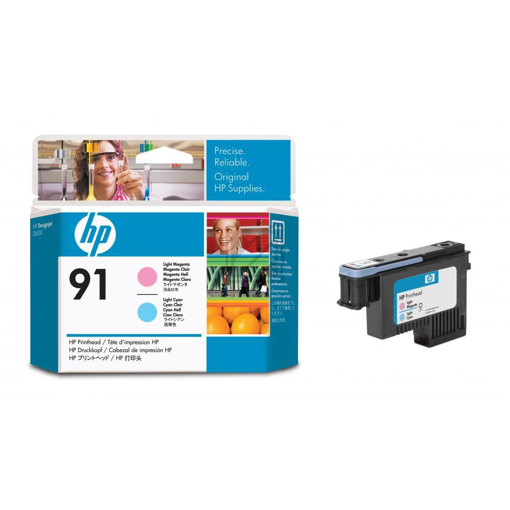 HP 91, HP Druckkopf, magenta und cyan light