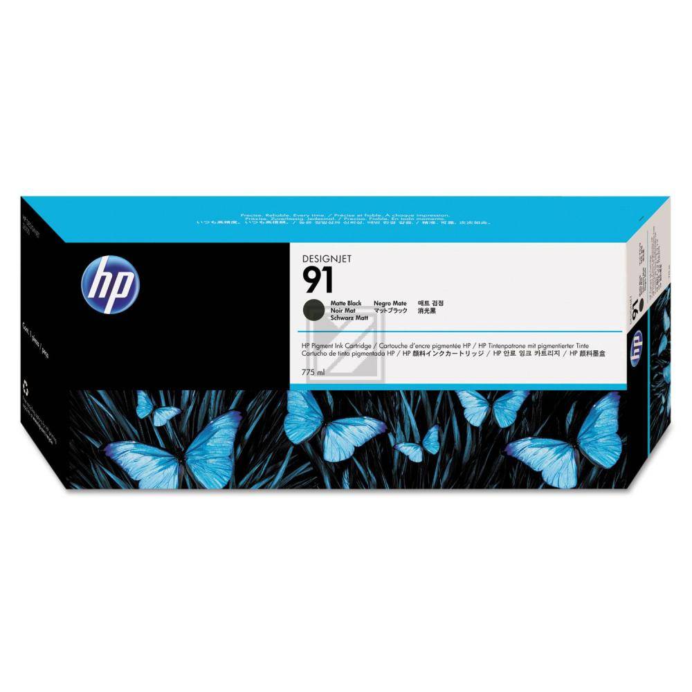 HP 91 | 775ml, HP Tintenpatrone, schwarz matt