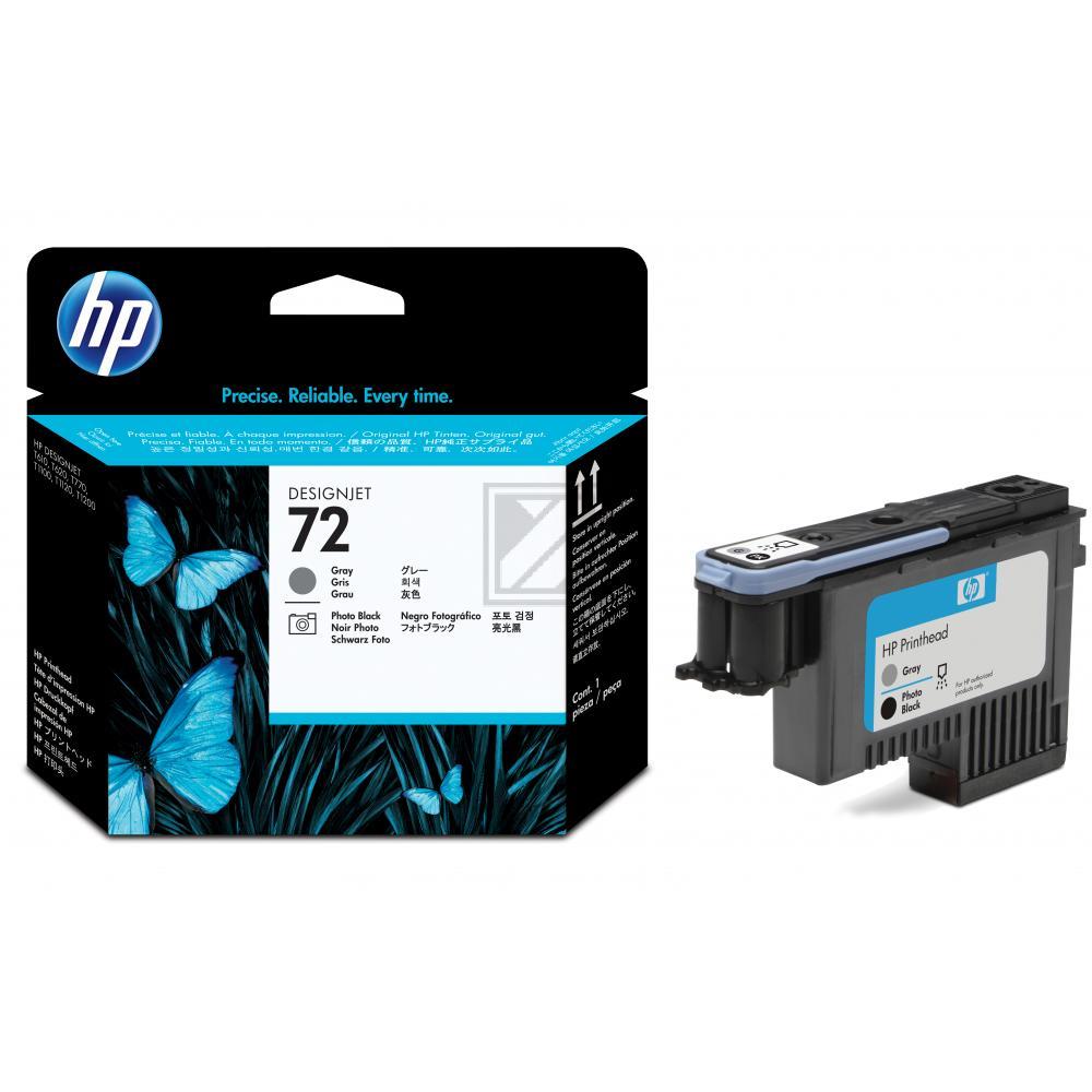 HP 72, HP Druckkopf, grau und photo schwarz