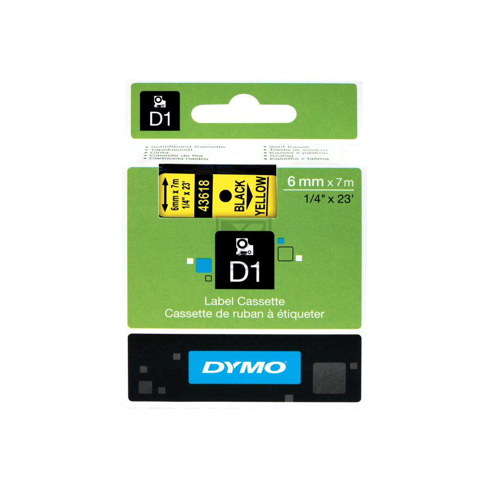 Dymo Schriftbandkassette schwarz/gelb (43618)