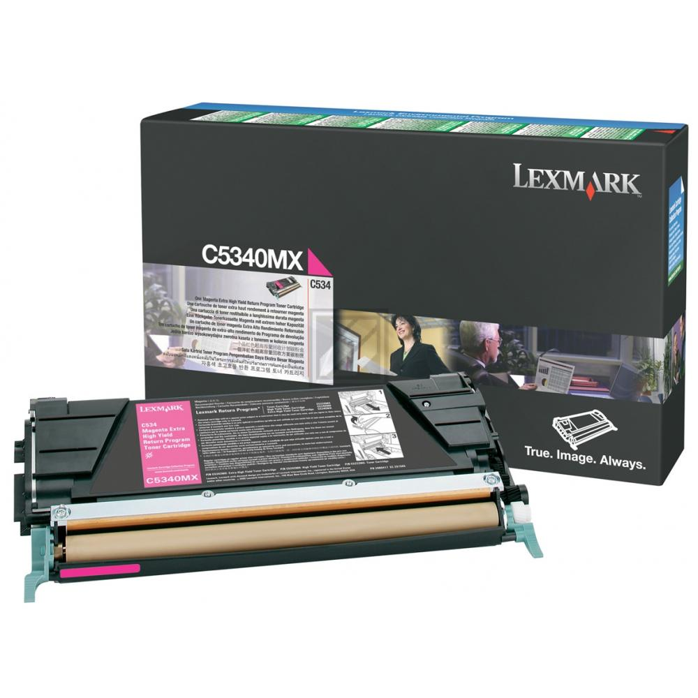 LEXMARK C5340MX   7000 Seiten, LEXMARK Tonerkassette mit sehr hoher Reichweite, magenta