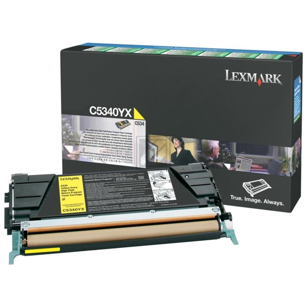 LEXMARK C5340YX | 7000 Seiten, LEXMARK Tonerkassette mit sehr hoher Reichweite, gelb