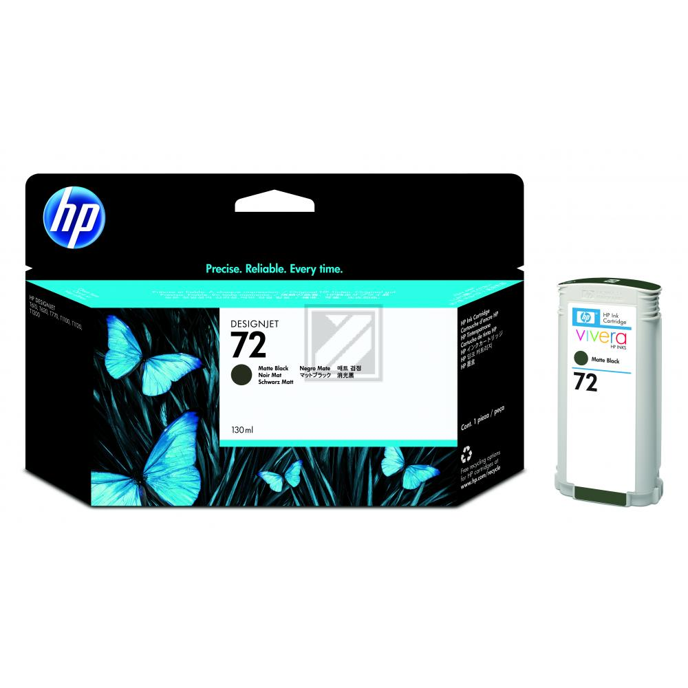 HP 72 | 130ml, HP Tintenpatrone, schwarz matt