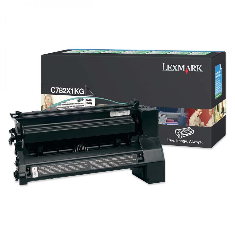LEXMARK C782X1KG | 15000 Seiten, LEXMARK Tonerkassette mit hoher Reichweite, schwarz