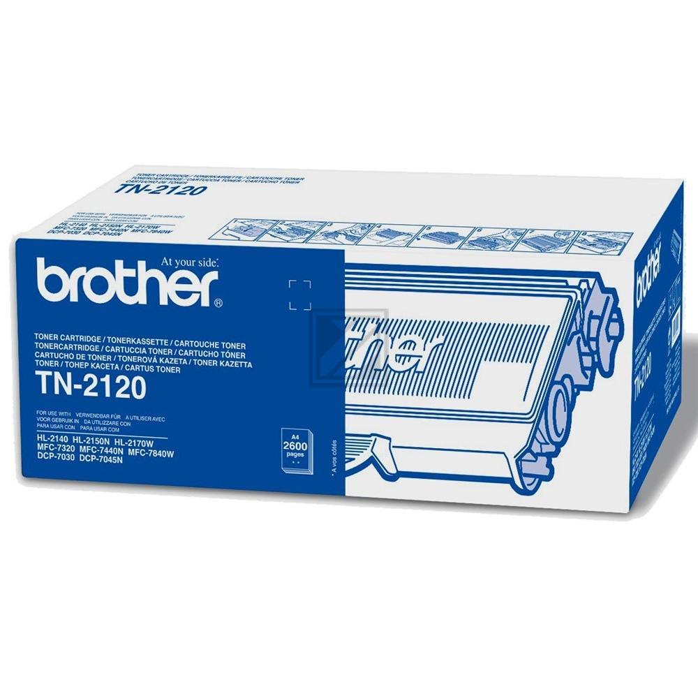 Brother Toner-Kit schwarz HC (TN-2120)