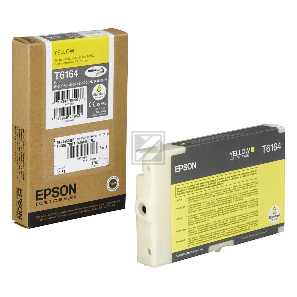 Epson Tintenpatrone gelb (C13T616400, T6164)