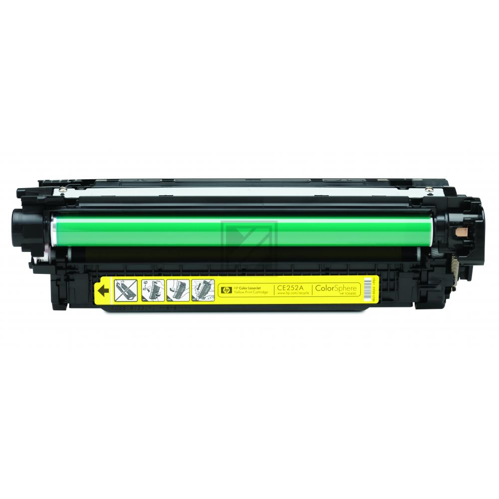HP Toner-Kartusche gelb (CE252A, 504A)