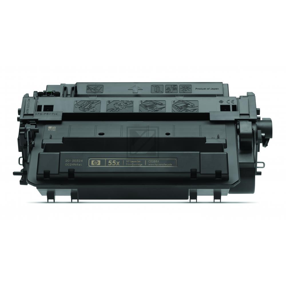 HP 55X | 12500 Seiten, HP Tonerkassette mit hoher Reichweite, schwarz