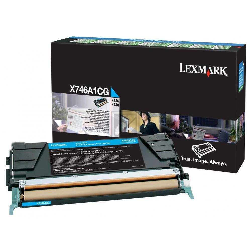 Original Lexmark X746A1CG Toner Cyan