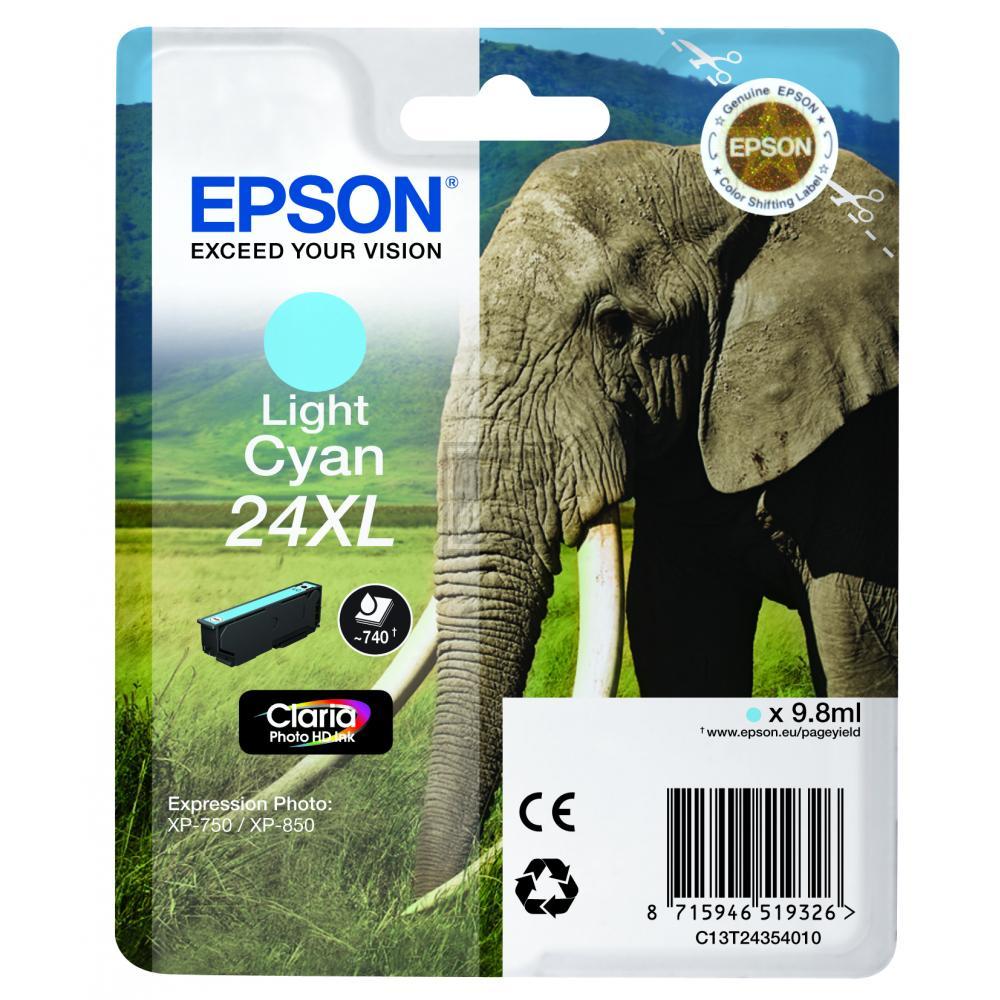 Original Epson C13T24354010 / 24XL Tinte Cyan (Hell) XL