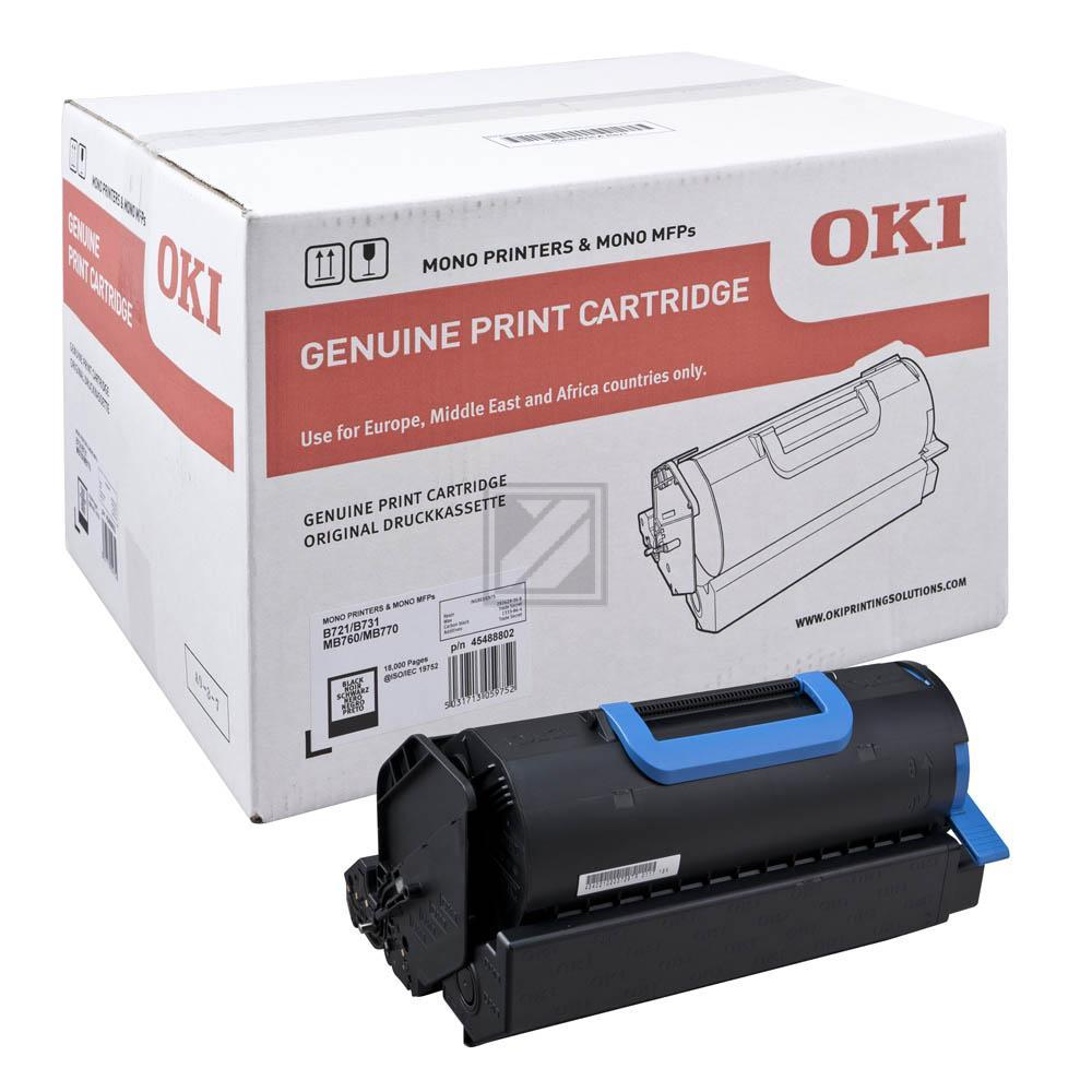 OKI 45488802   18000 Seiten, OKI Tonerkassette, schwarz