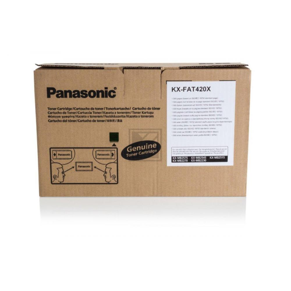 Original Panasonic KX-FAT420X Toner Schwarz