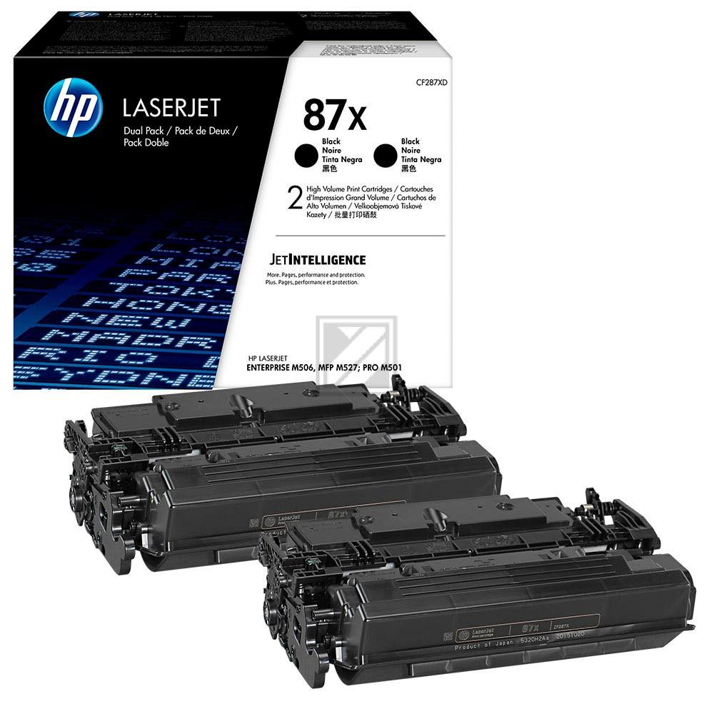 CF287XD/ 2x87X BK Original Toner Black für Hp / CF287XD // 2x18.000 Seiten