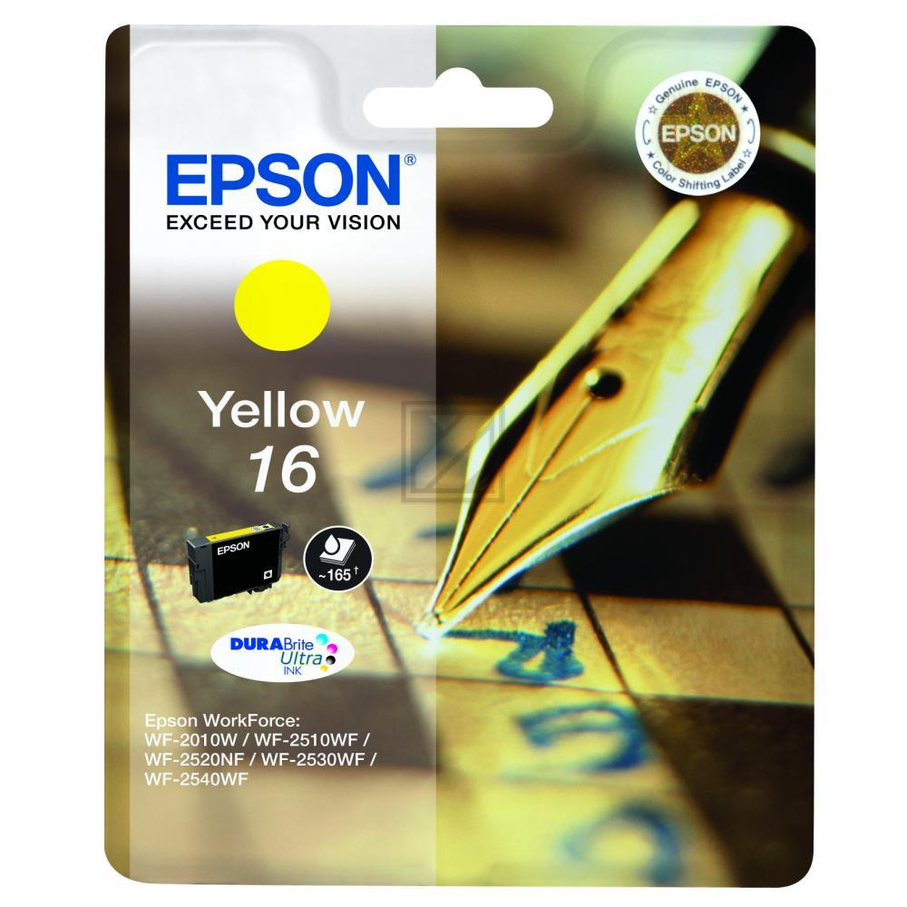 Epson Tintenpatrone gelb (C13T16244012, T1624)