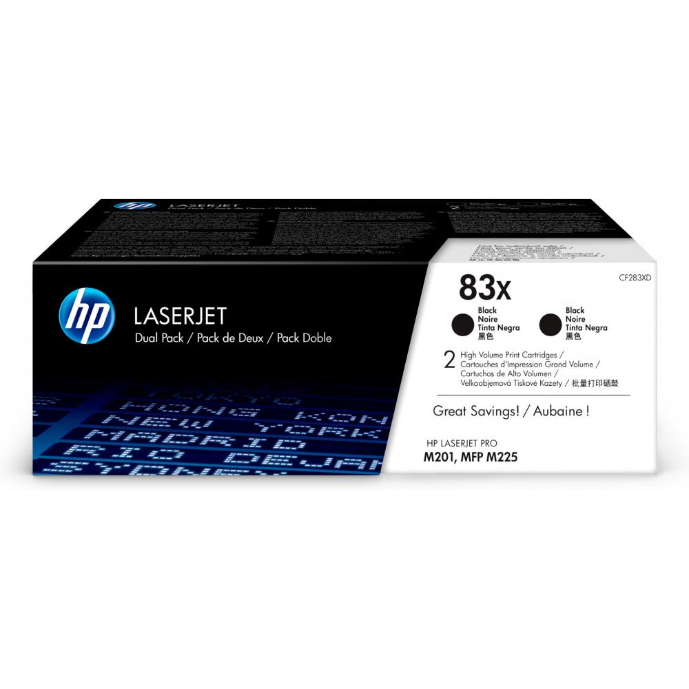 CF283XD/2x83X BK Original Toner Black für HP  / CF283XD / 2x2.200 Seiten