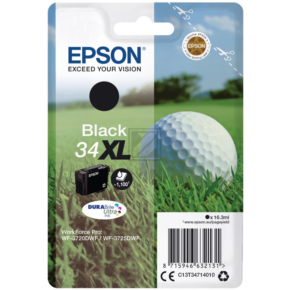 Epson Tintenpatrone schwarz HC (C13T34714010, T3471)