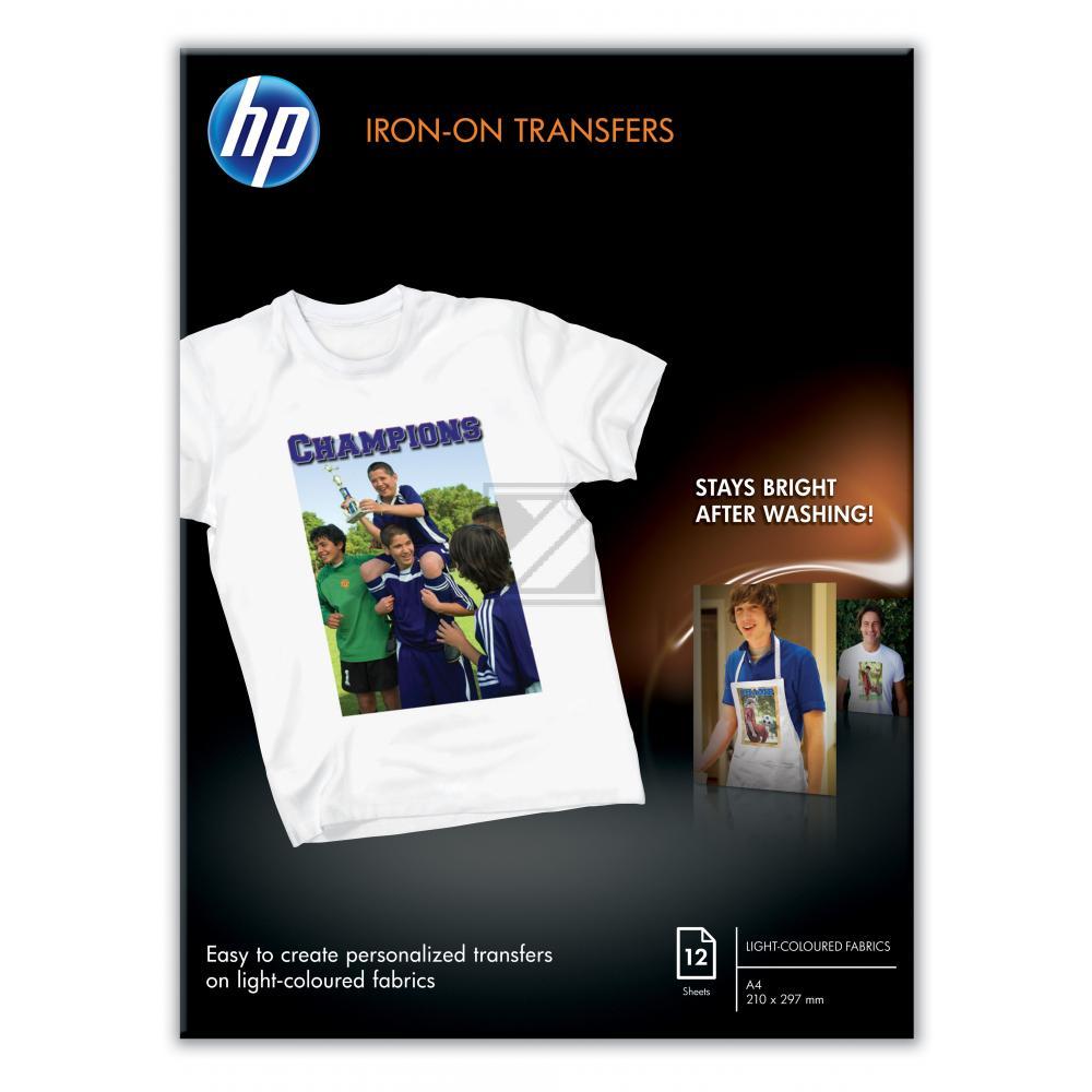 HP Transferpapier zum Aufbügeln | A4 | 170g | 12 Blatt