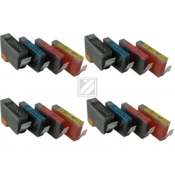 16 Compatible Ink Cartridges to Canon BCI-3 / BCI-6  (BK, C, M, Y) (4 4 4 4)