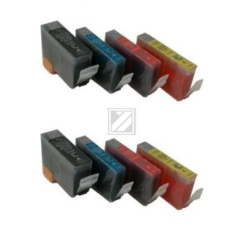 8 Compatible Ink Cartridges to Canon BCI-3 / BCI-6  (BK, C, M, Y) (2|2|2|2)