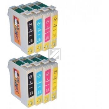 8 Compatible Ink Cartridges to Epson T0711 - T0714  (BK, C, M, Y)