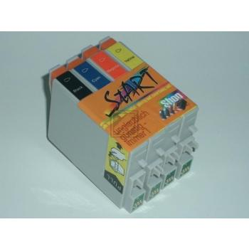8 Compatible Ink Cartridges to Epson T0551 - T0554  (BK, C, M, Y)
