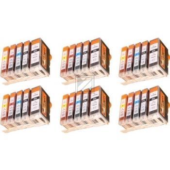 30 Compatible Ink Cartridges to Canon PGI-5 / CLI-8  (BK, C, M, Y)