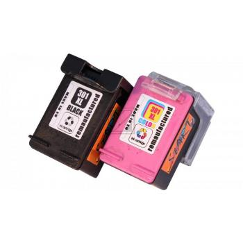 2 Compatible Ink Cartridges to HP HP301  (BK, Colours) XL