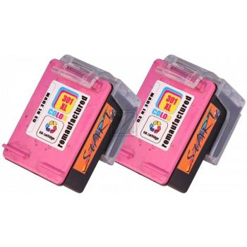 2 Compatible Ink Cartridges to HP HP301  (Colours) XL