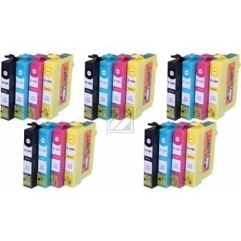 20 Compatible Ink Cartridges to Epson T1281 - T1284  (BK, C, M, Y)