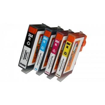 5 Compatible Ink Cartridges to HP HP364  (BK, PHBK, C, M, Y)