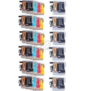 30 Compatible Ink Cartridges to Brother LC980 / LC1100  (BK, C, M, Y)