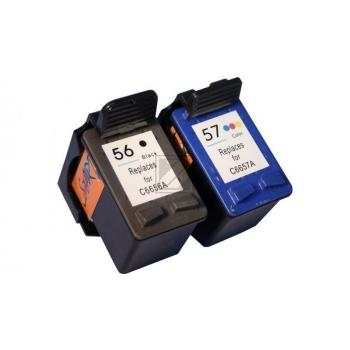 2 Compatible Ink Cartridges to HP HP56 + HP57  (BK, Colours)