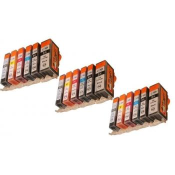 18 Compatible Ink Cartridges to Canon PGI-525 / CLI-526  (BK, PHBK, C, M, Y, GY)