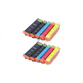 10 Compatible Ink Cartridges to Epson T2621 - T2634  (BK, PHBK, C, M, Y) XL