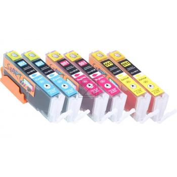 6 Compatible Ink Cartridges to Canon PGI-550 / CLI-551  (C, M, Y) XL