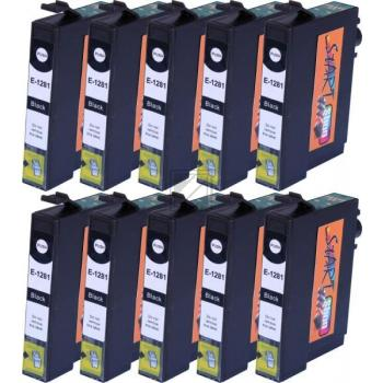 10 Compatible Ink Cartridges to Epson T1281 (BK, C, M, Y)