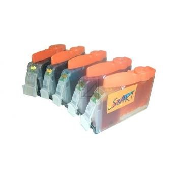 5 Compatible Cleaning Cartridges to Canon PGI-520 / CLI-521  (BK, PHBK, C, M, Y)
