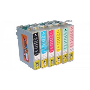 6 Compatible Cleaning Cartridges to Epson T0481 - T0486  (BK, C, M, Y, LC, LM)