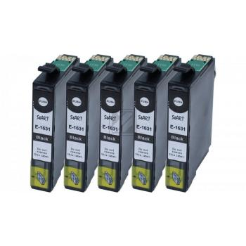 5 Compatible Ink Cartridges to Epson T1631 - T1634  (BK)