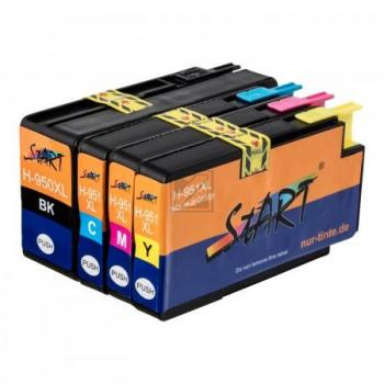 4 Compatible Ink Cartridges to HP HP950 + HP951  (BK, C, M, Y) XL