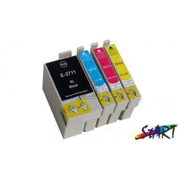 4 Compatible Ink Cartridges to Epson T2711 - T2714  (BK, C, M, Y) XL