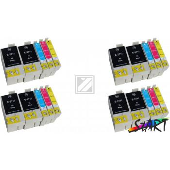 20 Compatible Ink Cartridges to Epson T2711 - T2714  (BK, C, M, Y) XL