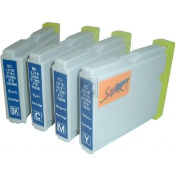 4 Compatible Cleaning Cartridges to Brother LC970 / LC1000  (BK, C, M, Y)