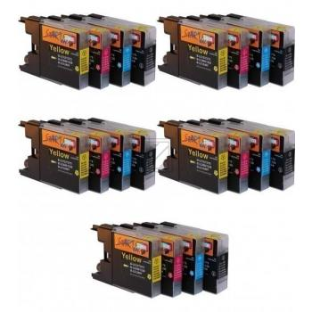 20 Compatible Ink Cartridges to Brother LC1240  (BK, C, M, Y)