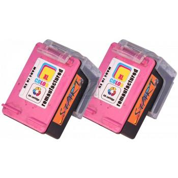2 Compatible Ink Cartridges to HP HP62  (Colours) XL