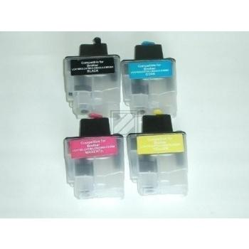 4 Compatible Refill Cartridges to Brother LC900  (BK, C, M, Y)