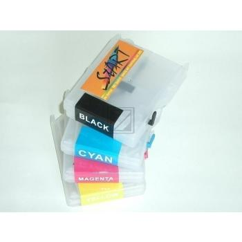4 Compatible Refill Cartridges to Brother LC970 / LC1000  (BK, C, M, Y)