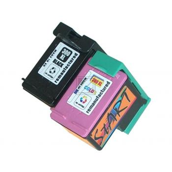 2 Compatible Ink Cartridges to HP HP300  (BK, Colours) XL