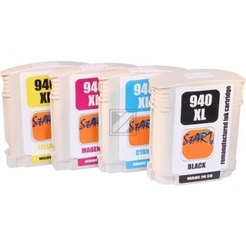 4 Compatible Ink Cartridges to HP HP940  (BK, C, M, Y)